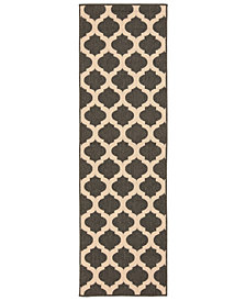 "Surya Alfresco ALF-9584 Black 2'3"" x 7'9"" Runner Area Rug"