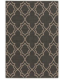 Alfresco ALF-9590 Black 6' x 9' Area Rug, Indoor/Outdoor