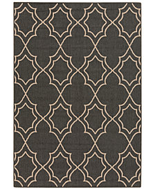 "Surya Alfresco ALF-9590 Black 5'3"" x 7'6"" Area Rug"