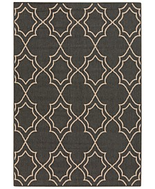 "Surya Alfresco ALF-9590 Black 8'9"" x 12'9"" Area Rug, Indoor/Outdoor"