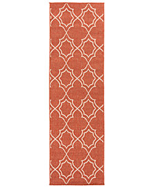 "Surya Alfresco ALF-9591 Rust 2'3"" x 7'9"" Runner Area Rug"