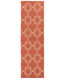"Surya Alfresco ALF-9591 Rust 2'3"" x 11'9"" Runner Area Rug, Indoor/Outdoor"