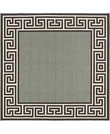 "Alfresco ALF-9625 Sage 8'9"" Square Area Rug, Indoor/Outdoor"
