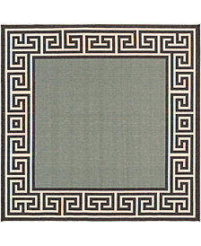 "Surya Alfresco ALF-9625 Sage 8'9"" Square Area Rug"