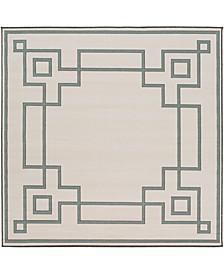 "Alfresco ALF-9629 Sage 8'9"" Square Area Rug, Indoor/Outdoor"