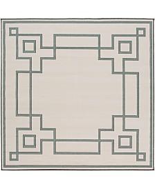 """Surya Alfresco ALF-9629 Sage 7'3"""" Square Area Rug, Indoor/Outdoor"""