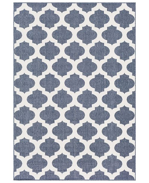 "Surya Alfresco ALF-9662 Charcoal 8'9"" x 12'9"" Area Rug, Indoor/Outdoor"