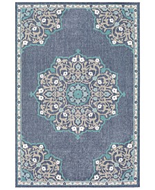 Alfresco ALF-9678 Charcoal 6' x 9' Area Rug, Indoor/Outdoor