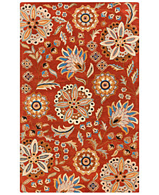 "Surya Athena ATH-5126 Burnt Orange 18"" Square Swatch"