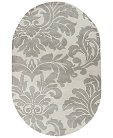 Surya Athena ATH-5073 Medium Gray 8' x 10' Oval Area Rug