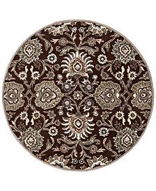 """Surya Caesar CAE-1063 Dark Brown 9'9"""" Round Area Rug"""