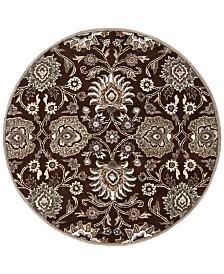 Surya Caesar CAE-1063 Dark Brown 6' Round Area Rug