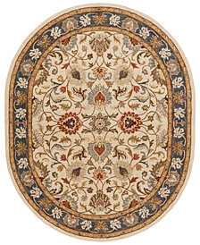 Surya Caesar CAE-1125 Bright Yellow 8' x 10' Oval Area Rug