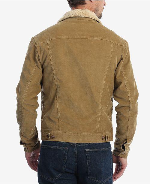 6def7b22 Wrangler Men's Heritage Sherpa Lined Corduroy Jacket & Reviews ...
