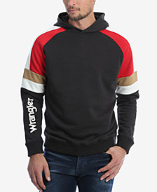 Wrangler Men's Colorblock Raglan Sleeve Hooded Sweatshirt