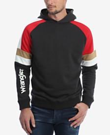 Wrangler Men's Colorblock Raglan Sleeve Hooded Sweatshirt