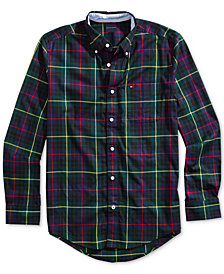 Tommy Hilfiger Adaptive Men's Vincento Plaid Shirt with Magnetic Buttons