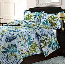 Lyon Microfiber Tropical Printed Oversized Quilt Set Collection