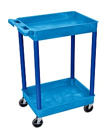 Offex Blue 2 Shelf Tub Cart