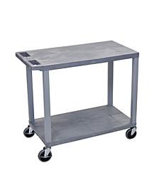 """32"""" X18"""" Cart 2 Flat Shelves"""