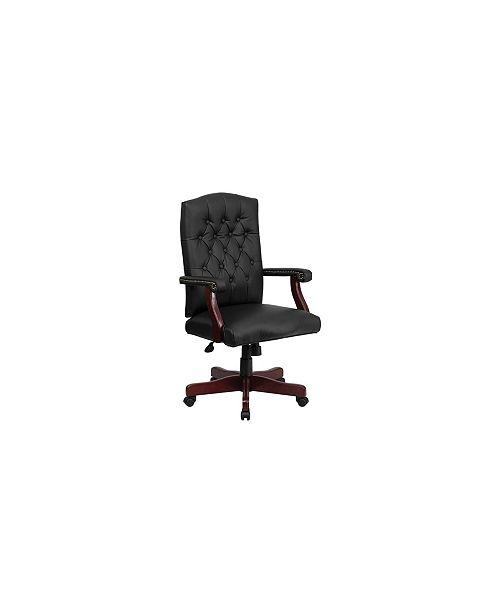 Astonishing Offex Martha Washington Black Leather Executive Swivel Chair Download Free Architecture Designs Osuribritishbridgeorg