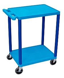 Clickhere2shop 2 Shelves Structural Foam Plastic Utility Cart