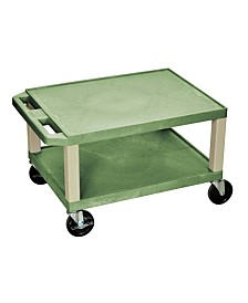 Offex OF-WT16G-P Tuffy Multipurpose Utility Cart 16 Inches Height - Putty Legs