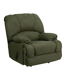 Clickhere2shop Contemporary Glacier Olive Microfiber Chaise Rocker Recliner