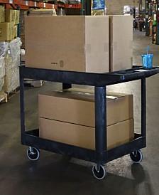 "Offex 33"" Two Tub Shelves Heavy - Duty Utility Cart - Black"