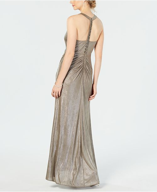 Macys Outlet Nj: Adrianna Papell Metallic Jersey Gown & Reviews