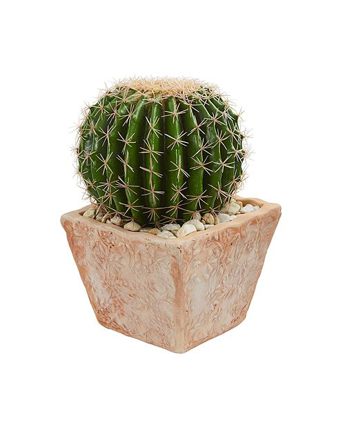 Nearly Natural Cactus Artificial Plant in Terra Cotta Planter