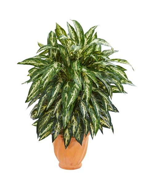 Nearly Natural Aglaonema Artificial Plant in Terra Cotta Planter