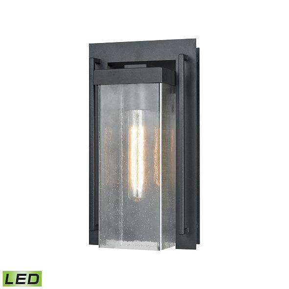 ELK Lighting Overton 1 Outdoor Sconce Matte Black