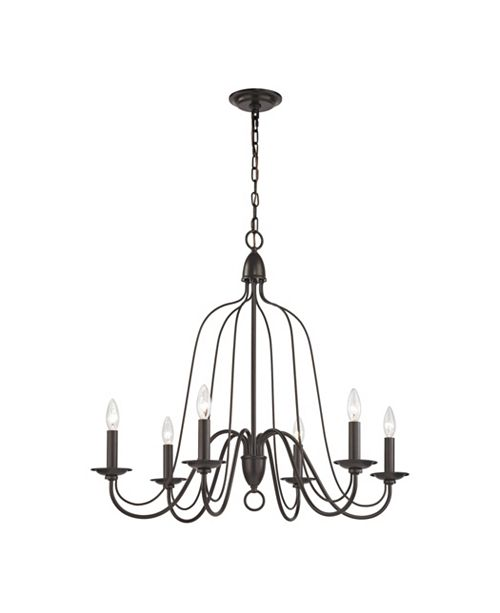 ELK Lighting Monroe 6 Light Chandelier in Oil Rubbed Bronze