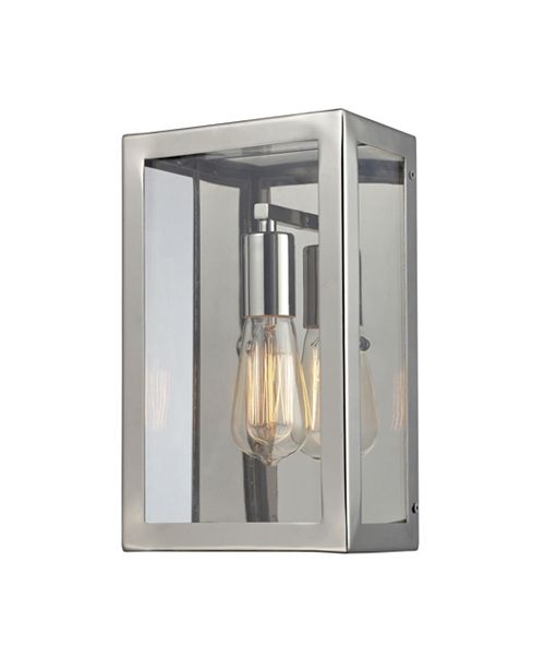 ELK Lighting Parameters 1-Light Sconce in Polished Nickel