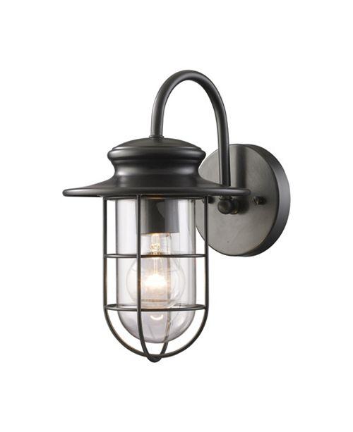 ELK Lighting Portside 1-Light Outdoor WB in Matte Black