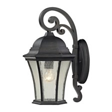 1 light outdoor wall mount in Weathered Charcoal