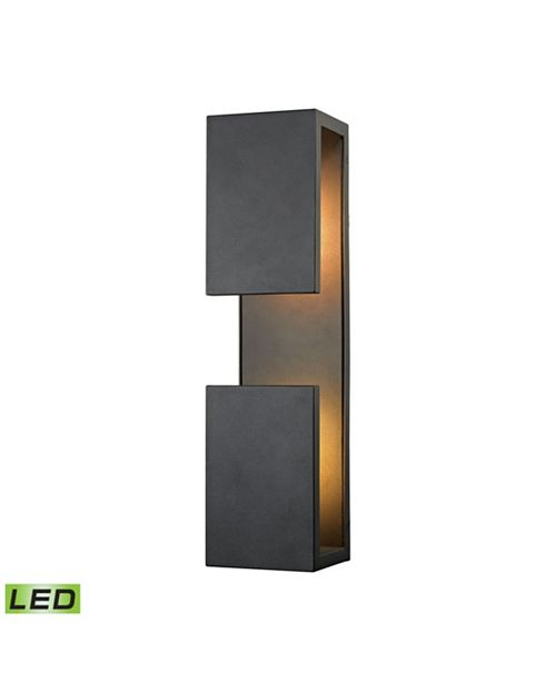 ELK Lighting Pierre LED Outdoor Wall Sconce in Textured Matte Black