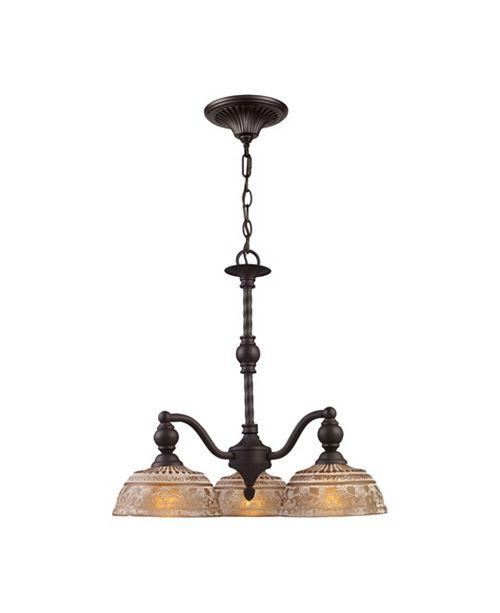 ELK Lighting Norwich 3-Light Chandelier in Oiled Bronze