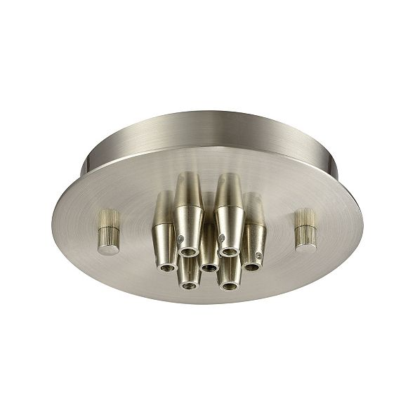 ELK Lighting Pendant Options 7 Light Small Round Canopy in Satin Nickel