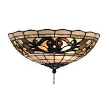 Tiffany Buckingham 2-Light Ceiling Lt Vint Ant