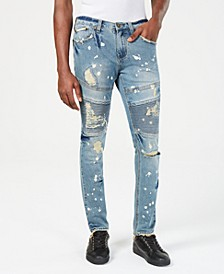 Mens Slim-Fit Distressed Jeans