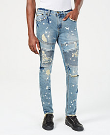 Heritage America Mens Slim-Fit Distressed Jeans