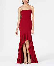 Speechless Juniors' Ruffled High-Low Gown
