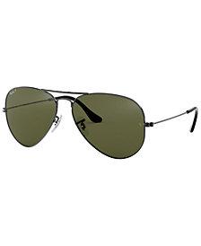 Ray-Ban Polarized Original Aviator Mirrored Sunglasses, RB3025