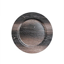 Jay Import Walnut Finish Set/4 Charger Plate