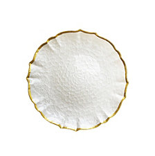 Jay Import Ice Queen Pearl Gold Charger Plate