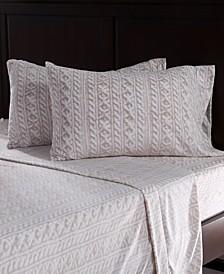 Blanket & Home Co.® Knit Print Microfleece Queen Sheet Set