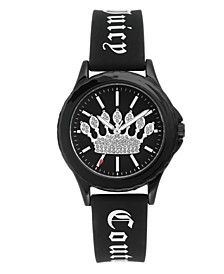 Woman's 1001BKBK Silicon Strap Watch
