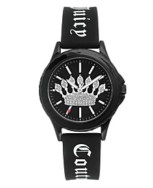 Woman's Juicy Couture, 1001BKBK Silicon Strap Watch